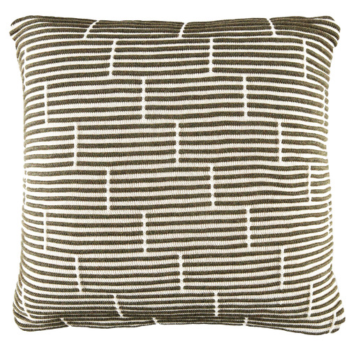 Temple & Webster Green Acre Knitted Cotton Cushion