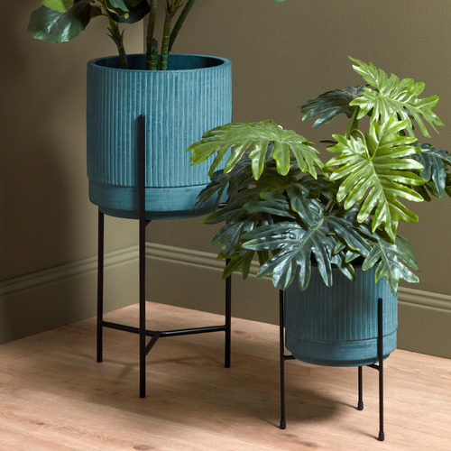 Temple & Webster 70cm Bloom Plant Pot on Stand