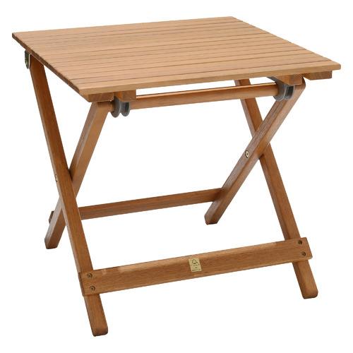 Natural Maui Eucalyptus Wood Outdoor Foldable Side Table