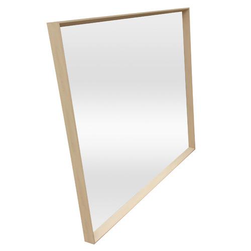 Temple & Webster Blonde Block Rectangular Mirror