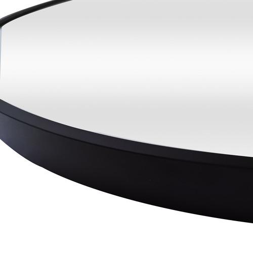 Black Tate Oval Metal Framed Wall Mirror