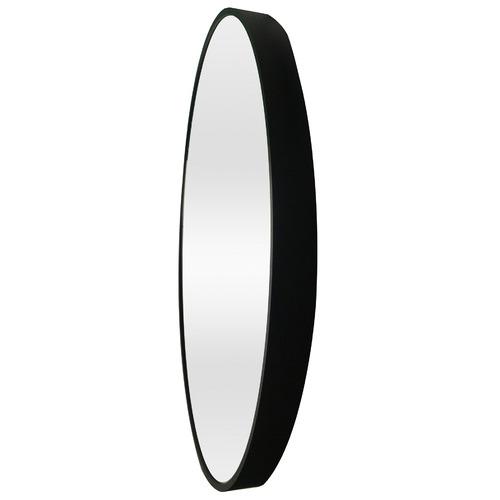 Black Tate Round Metal Framed Wall Mirror
