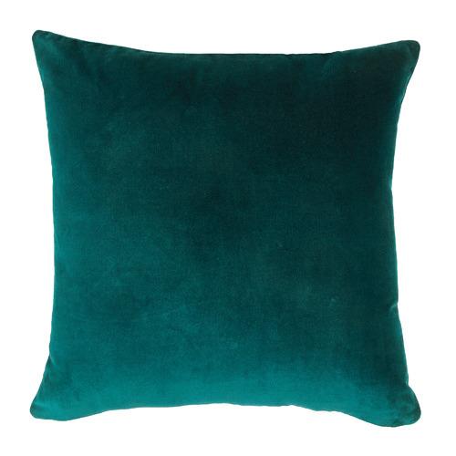 Temple & Webster Teal Minnie Velvet Cotton Cushion