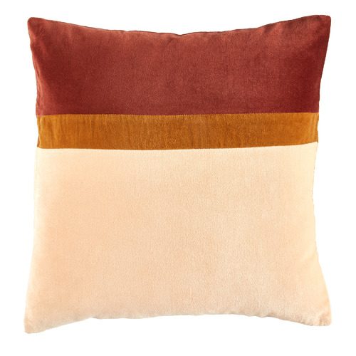 Rust Nell Velvet Patch Cotton Cushion