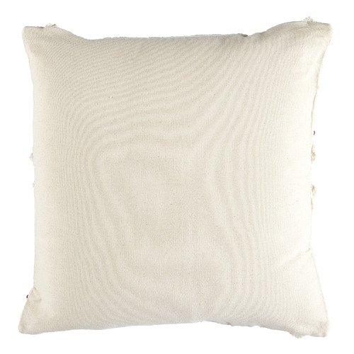 Temple & Webster Rust Prairie Embroidered Cotton Cushion