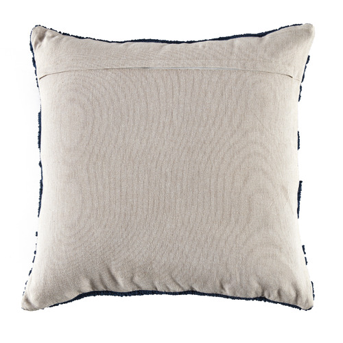 Navy Edie Hand Loomed Cotton Cushion