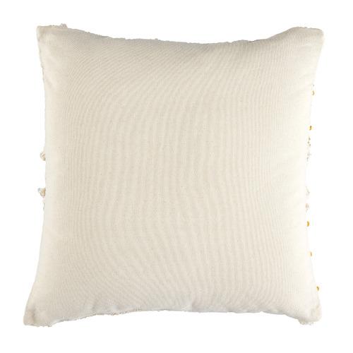 Ochre Prairie Embroided Cotton Cushion
