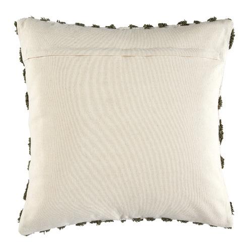 Olive Clove Tufted Cotton Cushion