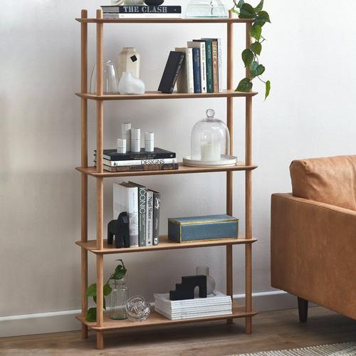 Natural Banjo 5 Tier Bookcase