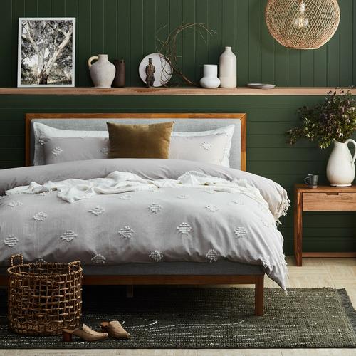 Natural & Grey Stella Queen Bed