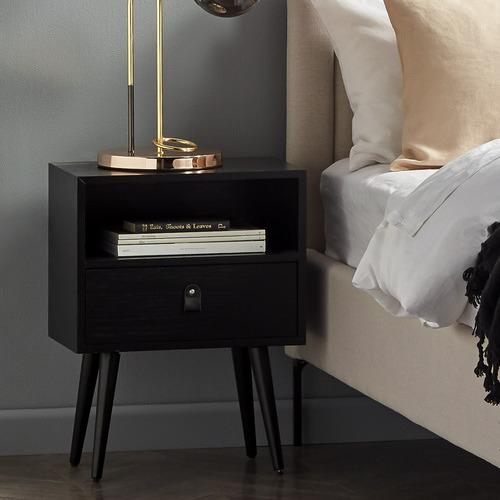 Temple & Webster Oak Luna Bedside Table