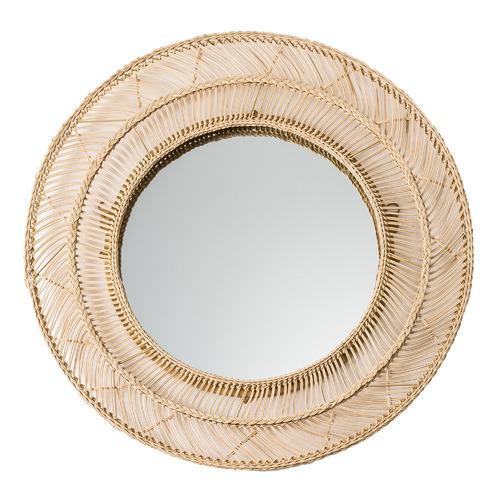 Lennon Round Rattan Mirror
