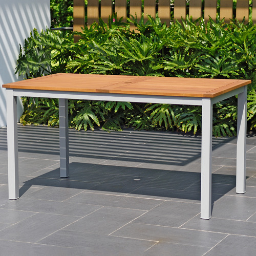 Temple & Webster Natural Maui Eucalyptus Wood Outdoor Dining Table