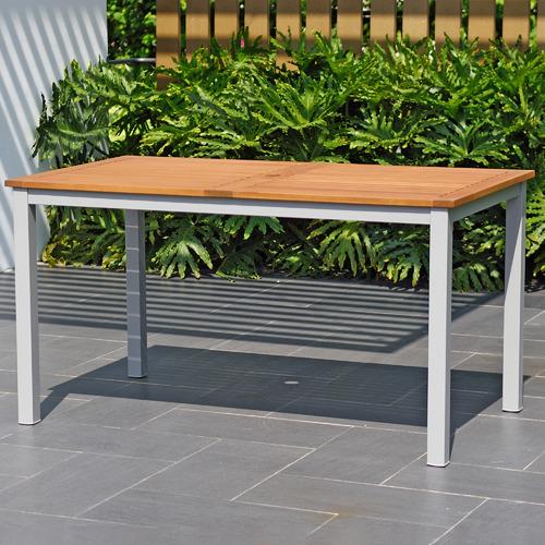 Natural Maui Eucalyptus Wood Outdoor Dining Table