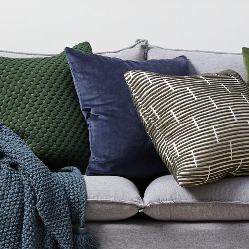 Temple & Webster Navy Minnie Velvet Cushion