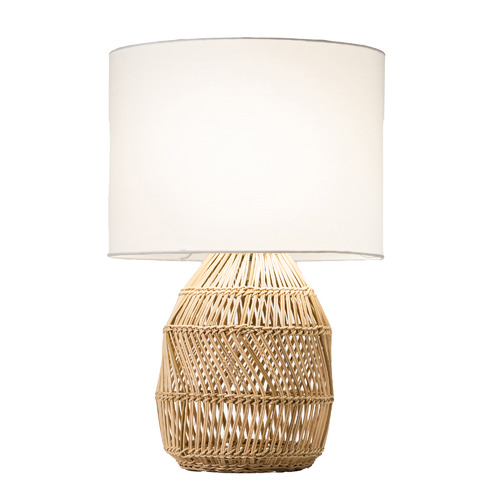 Temple & Webster Sonny Woven Table Lamp