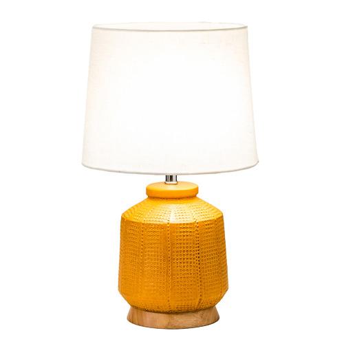 Temple & Webster Olive Ceramic Table Lamp