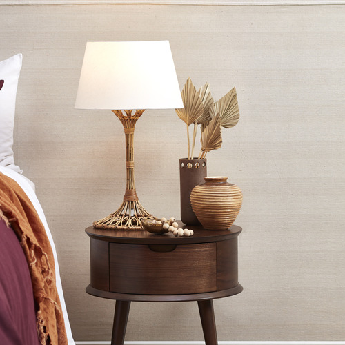 Temple & Webster Natural Florence Rattan Table Lamp