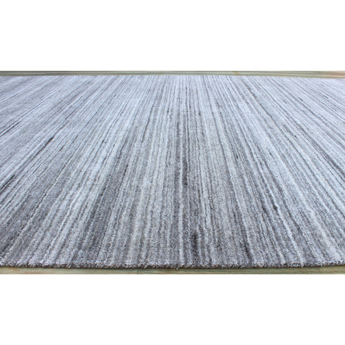 Temple & Webster Grey Ava Hand-Woven Wool Blend Rug