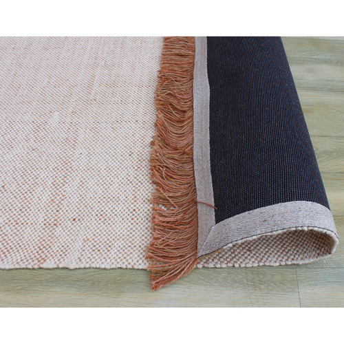 Temple & Webster Rust Jude Hand-Woven Wool-Blend Rug