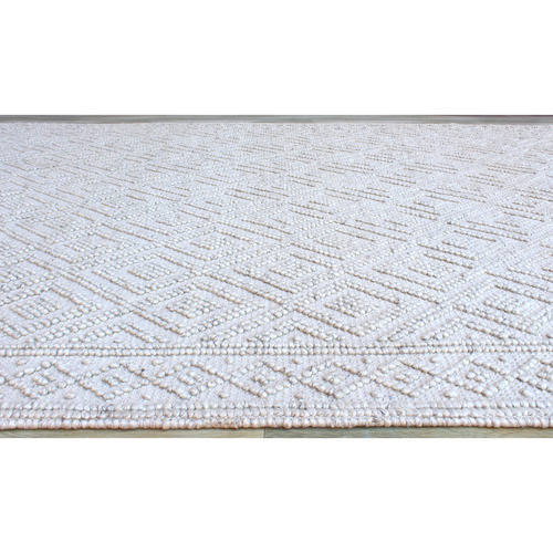 Ivory Thea Hand-Woven Wool-Blend Rug