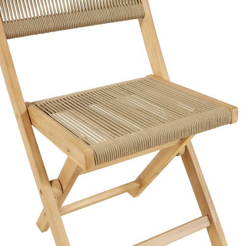2 Seater Sage Folding Acacia Wood Outdoor Bistro Set