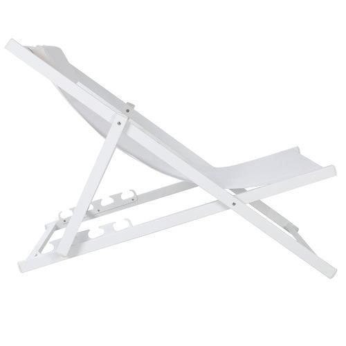 White Kos Aluminium Outdoor Sling Deck Chairs