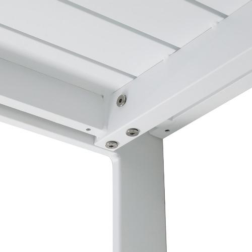 White Kos Aluminium Outdoor Dining Table