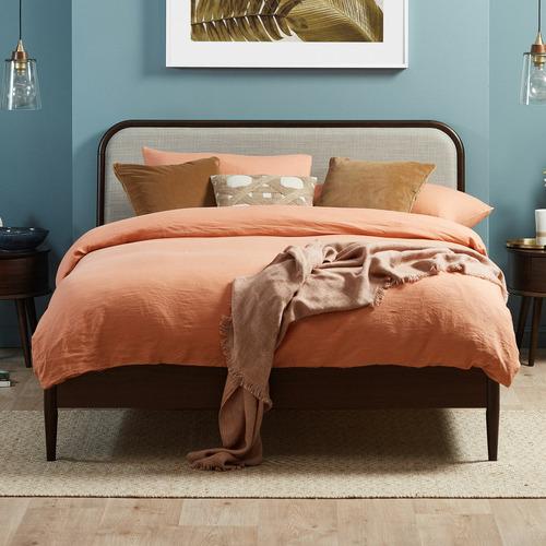Temple & Webster Walnut Olsen Curved Bedroom Set