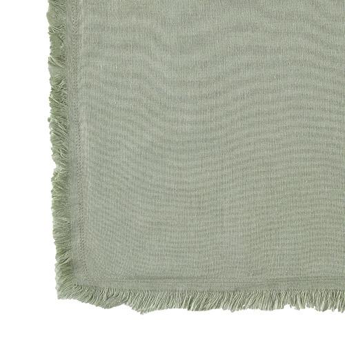 Sage Fringed Maia Cotton-Linen Quilt Cover Set