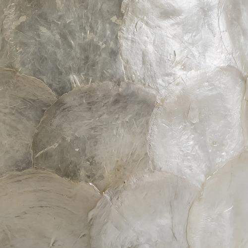 White Ariel Capiz Side Table
