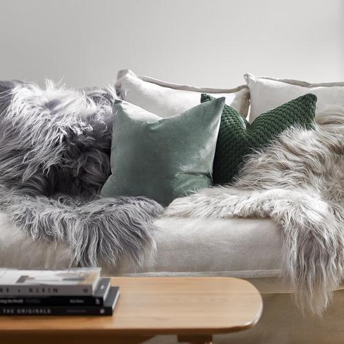 Temple & Webster Sage Minnie Velvet Cushion