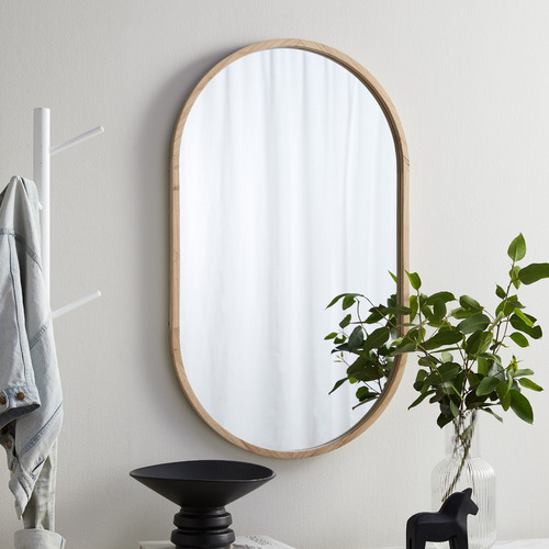 Temple & Webster Tate Oval Wooden Framed Wall Mirror