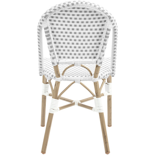 Temple & Webster Grey & White Paris PE Rattan Outdoor Café Dining Chairs