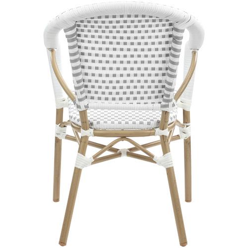 Grey Paris PE Rattan Outdoor Cafe Armchairs