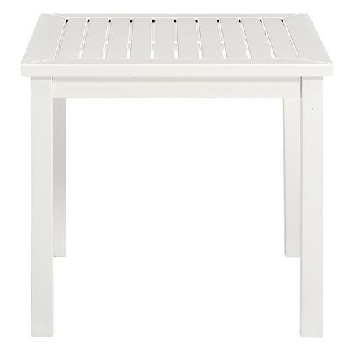 White Santa Cruz Acacia Side Table