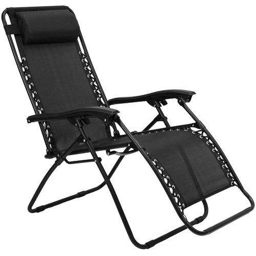 Temple & Webster Zero Gravity Steel Outdoor Reclining Chair