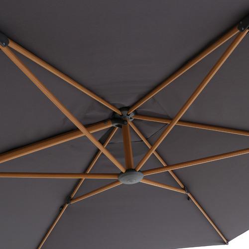Dark Grey Tahiti Aluminium Market Cantilever Umbrella