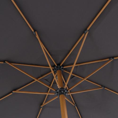 Dark Grey Tahiti Aluminium Market Umbrella