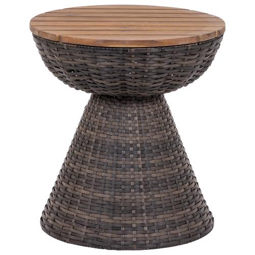 Vesta Rattan Alfresco Pedestal Side Table