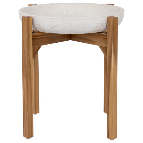 Ceres Ceramic & Wood Tray Top Side Table