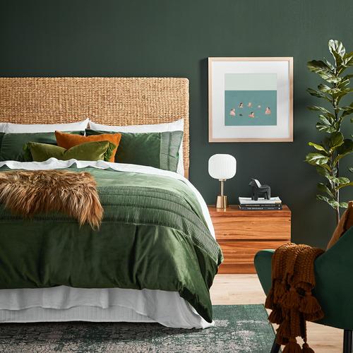 Temple & Webster Pine Minnie Tasselled Velvet Cushion