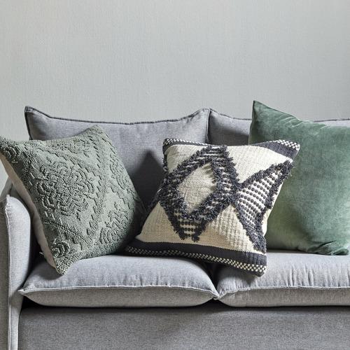 3 Piece Sage & Natural Cushion Set