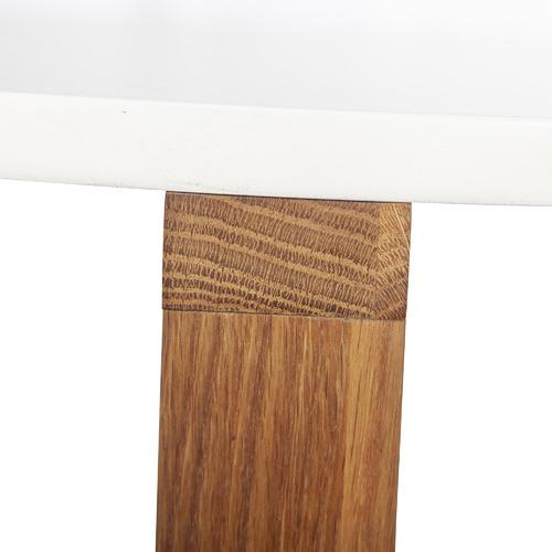 2 Piece Olwen Oak Wood Nesting Side Table Set