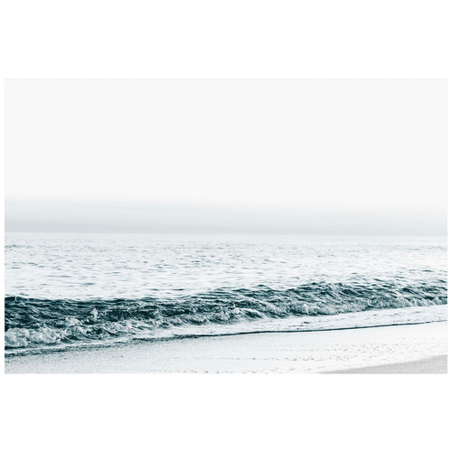 Blue Seascape Stretched Canvas Wall Art