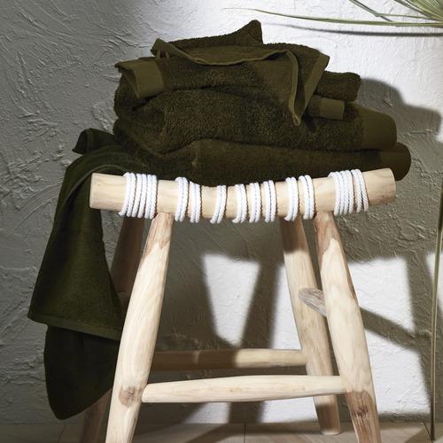 Temple & Webster Olive Spa 600GSM Bamboo & Turkish Cotton Towel Set