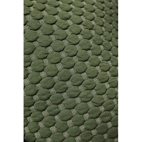 Green Leo Quilted Cotton Cushion