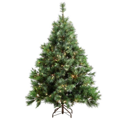 Temple & Webster 180cm Classic Pine Pre-Lit Christmas Tree