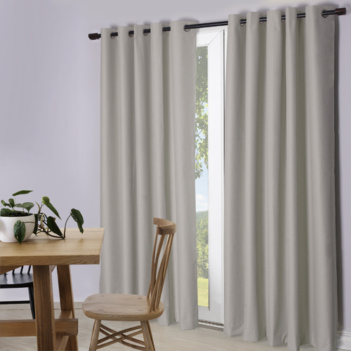 Temple & Webster White Lexington Eyelet Blockout Curtains