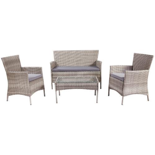 4 Seater Porto PE Rattan Outdoor Lounge Set